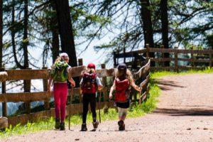 Drei Kinder beim Wanderausflug